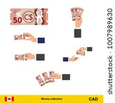 set of canadian dollar banknote.... | Shutterstock .eps vector #1007989630