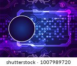abstract technology circuit... | Shutterstock .eps vector #1007989720