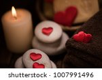 wellness decoration  on wooden... | Shutterstock . vector #1007991496