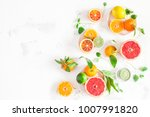 fruit background. colorful... | Shutterstock . vector #1007991820
