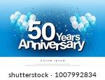 50th years anniversary greeting ... | Shutterstock .eps vector #1007992834