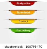 vector multicolored paper...   Shutterstock .eps vector #100799470