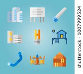 icon set about real assets.... | Shutterstock .eps vector #1007999524