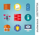 icon set about real assets.... | Shutterstock .eps vector #1007999704