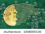 bitcoins concept with... | Shutterstock . vector #1008000130