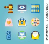 icon set about real assets.... | Shutterstock .eps vector #1008001030