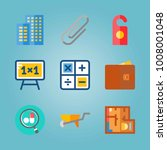 icon set about real assets.... | Shutterstock .eps vector #1008001048