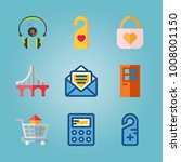 icon set about real assets.... | Shutterstock .eps vector #1008001150
