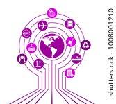 global logistics network. map... | Shutterstock .eps vector #1008001210