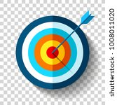 target icon in flat style on... | Shutterstock .eps vector #1008011020