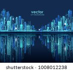 modern city skyline hand drawn  ... | Shutterstock .eps vector #1008012238