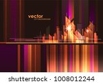 abstract modern night city... | Shutterstock .eps vector #1008012244