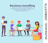 business travelling  text... | Shutterstock .eps vector #1008019774
