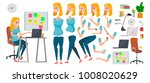 business woman character.... | Shutterstock . vector #1008020629