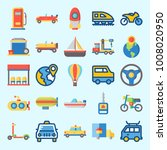 icons set about transportation... | Shutterstock .eps vector #1008020950