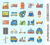 icons set about transportation... | Shutterstock .eps vector #1008021004