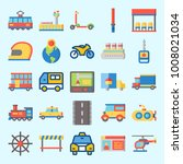 icons set about transportation... | Shutterstock .eps vector #1008021034