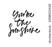 you're the sunshine. valentine... | Shutterstock .eps vector #1008022420