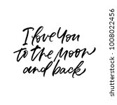 i love you to the moon and back....   Shutterstock .eps vector #1008022456