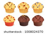 Set Of Muffins With Different...