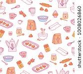 home baking seamless pattern | Shutterstock .eps vector #1008026860