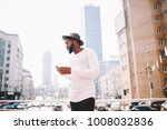 serious afro american man in... | Shutterstock . vector #1008032836