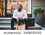 smiling african american male...   Shutterstock . vector #1008032920