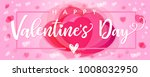 lettering happy valentines day... | Shutterstock .eps vector #1008032950