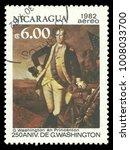 nicaragua   circa 1982  stamp... | Shutterstock . vector #1008033700