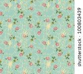 little roses  seamless floral... | Shutterstock .eps vector #100803439
