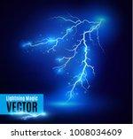 lightning magic and bright...   Shutterstock .eps vector #1008034609