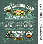 cute kids roads construction... | Shutterstock .eps vector #1008034756