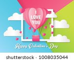 love and valentine day card... | Shutterstock .eps vector #1008035044