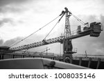 crane at building site | Shutterstock . vector #1008035146