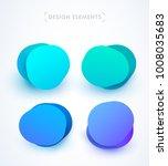 modern abstract speech bubbles... | Shutterstock .eps vector #1008035683