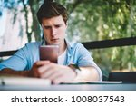 young hipster guy disappointed... | Shutterstock . vector #1008037543