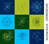 set vector bauhaus abstract... | Shutterstock .eps vector #1008038140