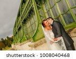 happy bride and groom   Shutterstock . vector #1008040468
