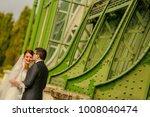 happy bride and groom   Shutterstock . vector #1008040474