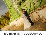 happy bride and groom   Shutterstock . vector #1008040480