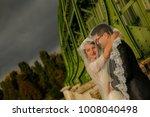 happy bride and groom   Shutterstock . vector #1008040498