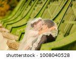 happy bride and groom   Shutterstock . vector #1008040528