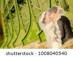 happy bride and groom   Shutterstock . vector #1008040540