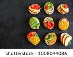 fruit dessert sandwiches or... | Shutterstock . vector #1008044086
