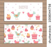 set of cards on valentine day ... | Shutterstock .eps vector #1008044758