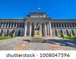 entrance of the museo del prado ... | Shutterstock . vector #1008047596
