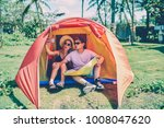 hipster couple making funny...   Shutterstock . vector #1008047620