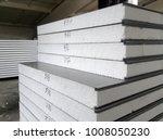sandwich panels on the warehouse | Shutterstock . vector #1008050230