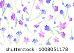 floral seamless pattern with... | Shutterstock .eps vector #1008051178