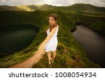 young woman in white dress...   Shutterstock . vector #1008054934